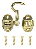 Brass-plated Cabin hook, (L)70mm