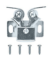 Zinc-plated Carbon steel Double roller catch