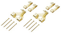 B&Q Brass effect Picture hook Pack of 60