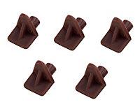 B&Q Brown Plastic Shelf support