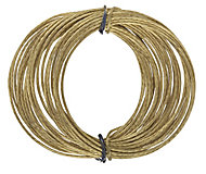Brass-plated Medium duty Picture hook wire (L)5000mm