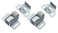 Zinc-plated Carbon steel Roller catch, Pack of 2