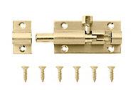 B&Q Brass Barrel bolt (L)50mm