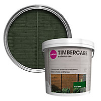 Colours Timbercare Forest green Fence & shed Wood stain, 9L