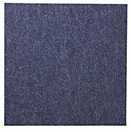B&Q Blue Loop Carpet tile, (L)50cm, Pack of 10