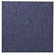 Colours Blue Loop Carpet tile, (L)50cm, Pack of 10