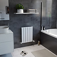 Ximax Vertirad Horizontal or vertical Designer Radiator, White (W)445mm (H)600mm
