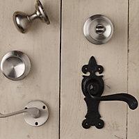 Satin Nickel effect Internal Round Latch Door knob, Set