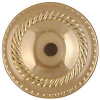 Polished Brass effect Zamac Round Door knob (Dia)53mm, Pair