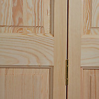 4 panel Clear pine Internal Bi-fold Door set, (H)1946mm (W)750mm