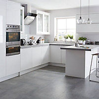 IT Kitchens Santini Gloss White Slab Appliance & larder Deep wall end panel (H)720mm (W)335mm