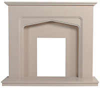 Be Modern Oslo Marfil stone Fireplace surround set