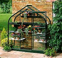 B&Q 6x2 Toughened glass Apex Greenhouse