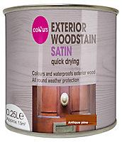 Colours Antique pine Satin Wood stain, 0.25L