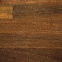 38mm Butcher's block Walnut effect Laminate Round edge Kitchen Worktop, (L)3000mm