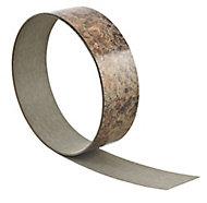 Butterum Brown Worktop edging tape, (L)3000mm