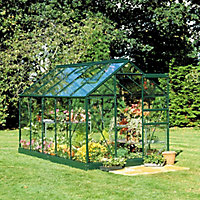B&Q 6x4 Toughened glass Apex Greenhouse
