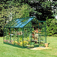 B&Q 6x6 Toughened glass Apex Greenhouse