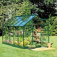 B&Q 6x8 Toughened glass Apex Greenhouse