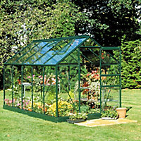 B&Q 6x10 Toughened glass Apex Greenhouse