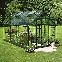 B&Q 8x12 Horticultural glass Apex Greenhouse