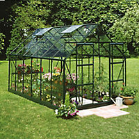 B&Q 8x14 Horticultural glass Apex Greenhouse
