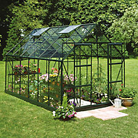 B&Q 8x12 Toughened glass Apex Greenhouse