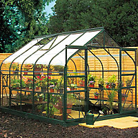 B&Q 8x10 Toughened glass Apex Greenhouse
