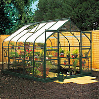 B&Q 8x14 Toughened glass Apex Greenhouse