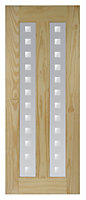 Vertical 2 panel Clear pine Internal Door, (H)1981mm (W)838mm