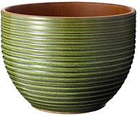Nurgul Green Ceramic Ribbed Plant pot