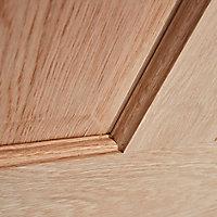 6 panel Oak veneer LH & RH Internal Door, (H)1981mm (W)686mm