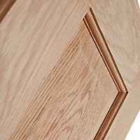 6 panel Oak veneer LH & RH Internal Door, (H)1981mm (W)762mm
