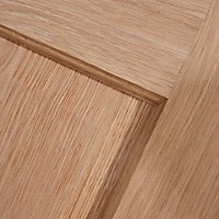 4 panel Oak veneer LH & RH Internal Door, (H)1981mm (W)686mm