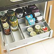 IT Kitchens Metallic effect Plastic Drawer divider pack