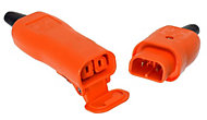 B&Q 10A Orange Switched 2 pin plug & socket
