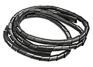 B&Q Black 10mm Cable wrap, (L)1.5m