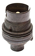 B&Q Black Bayonet cap (B22) Lampholder