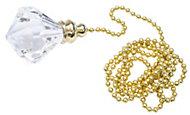 B&Q Diamond crystal effect Acrylic Light pull