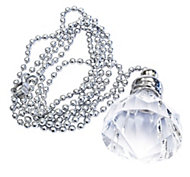 B&Q Silver Diamond crystal effect Acrylic Light pull