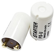 B&Q White Starter Switch, Pack of 2
