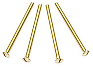 B&Q Brass effect Metal Interior socket & switch screw (Dia)3mm (L)50mm, Pack of 4