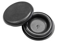 B&Q Rubber Semi-blind Black 25mm Grommet, Pack of 10