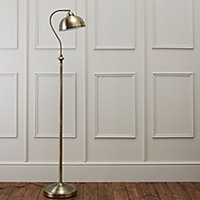 Carswell Gold effect Floor lamp