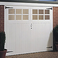 Side hung Glazed Garage door pair, (H)1981mm (W)2134mm