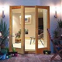 Clear Glazed External Patio door, (H)2100mm (W)1200mm