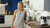 B&Q Jamocha Gloss Brown Laminate Upstand (L)3050mm