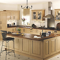 IT Kitchens Classic Chestnut Style Cabinet door (W)600mm, Set of 2