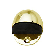 B&Q Brass effect Door stop, Pack of 1