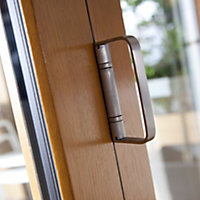 Solid laminated oak Glazed Patio Patio door, (H)2104mm (W)3004mm